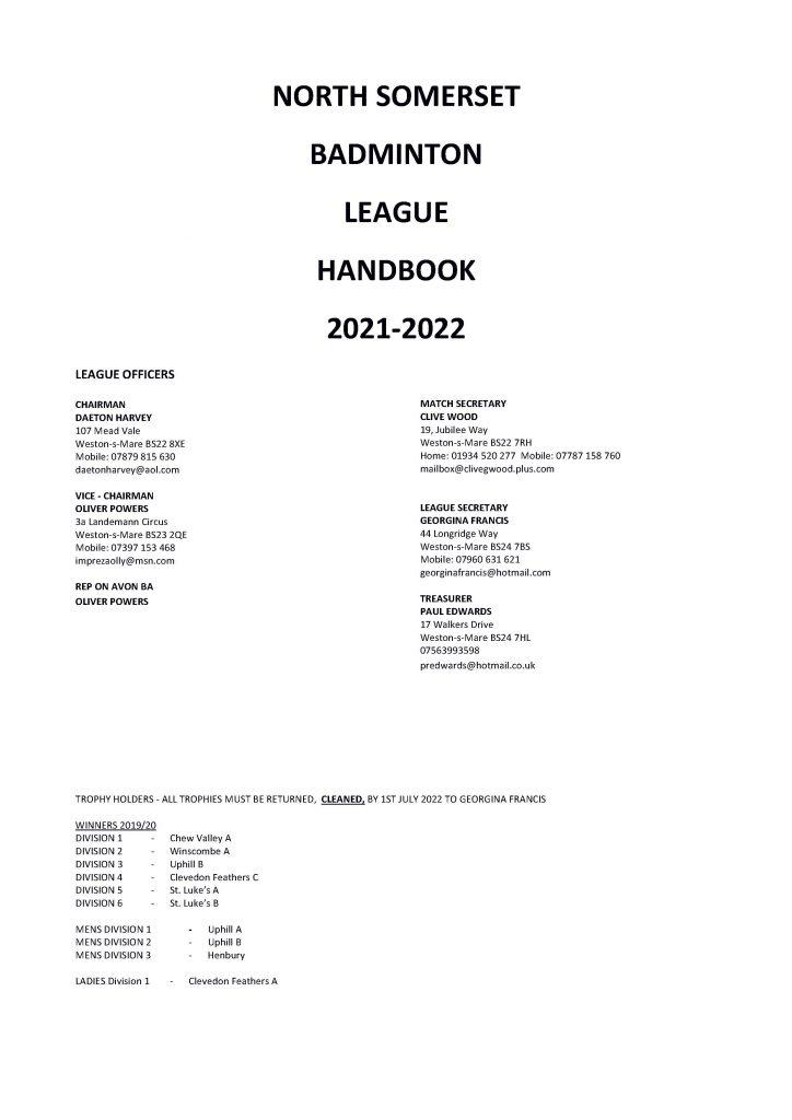 NSBL Handbook 2021-22